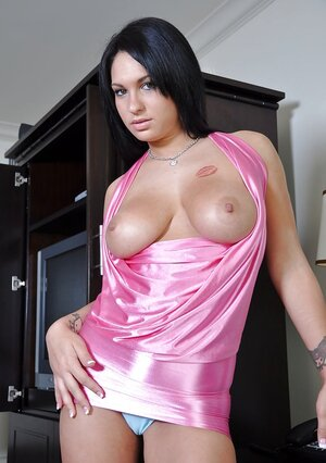 Chick loves clothespins on her boobs and moreover moreover pussy lips and moreover moreover dildo in bottom