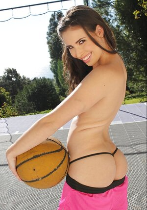 There are plenty of things that this girl likes but naked basketball is number one